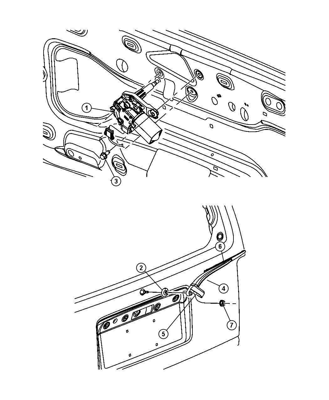 Dodge Nitro Grommet Rear Wiper Motor