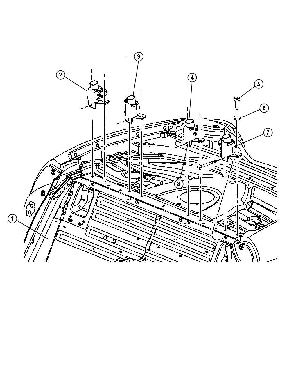 Dodge Viper Bracket. Sport hoop mounting. Right. Inner