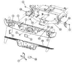 Dodge Ram 2500 Parts Diagram Hdmi Wire Bumper Rear 1500 3500 Genuine Mopar