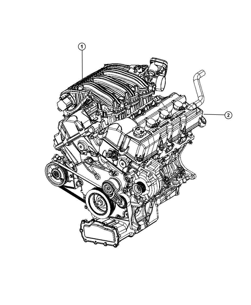 2009 Dodge Charger BASE 2.7L V6 Engine. Long block