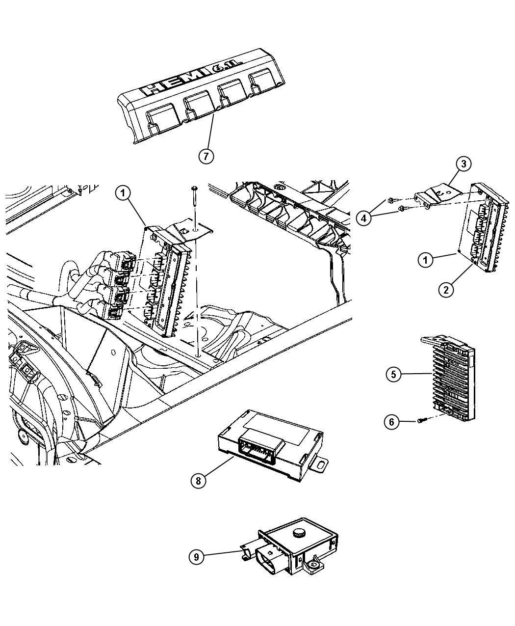 2009 Dodge Challenger R/T 5.7L Hemi V8 A/T Module