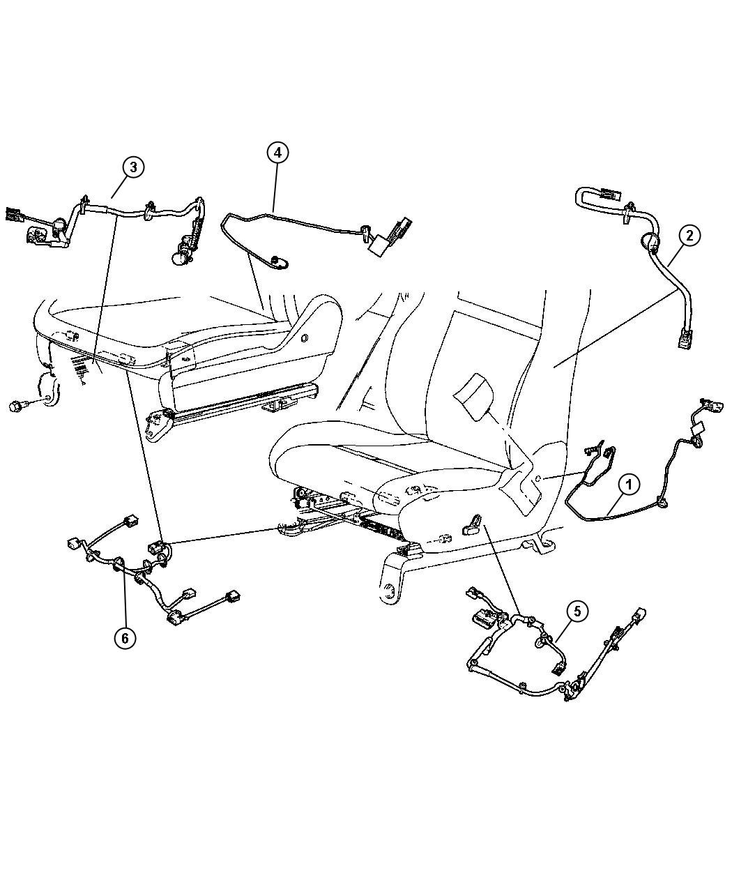 Jeep Grand Cherokee Wiring. Power seat. Right. 4 way