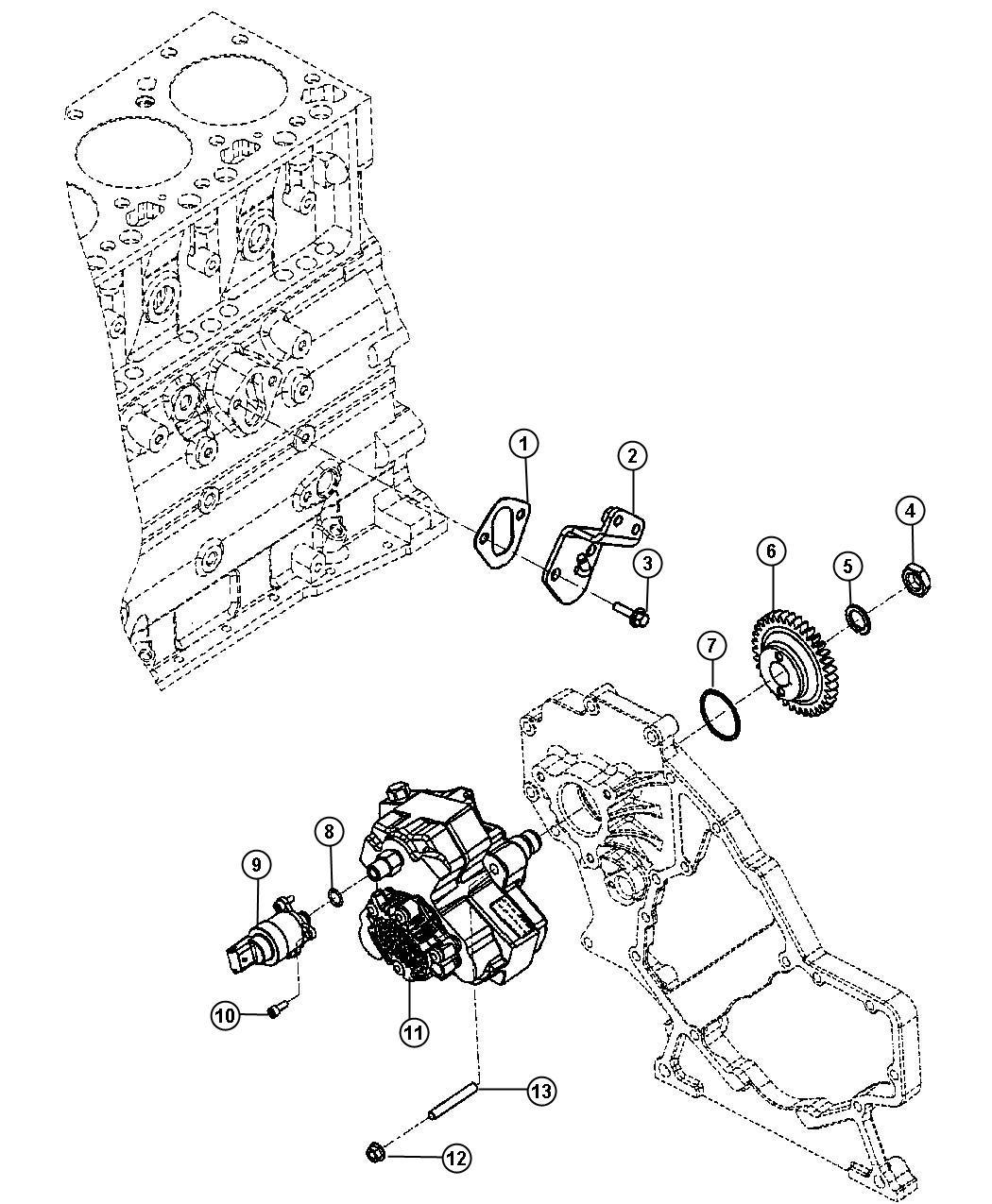 Dodge Ram 2500 Pump. Fuel injection. [export emissions