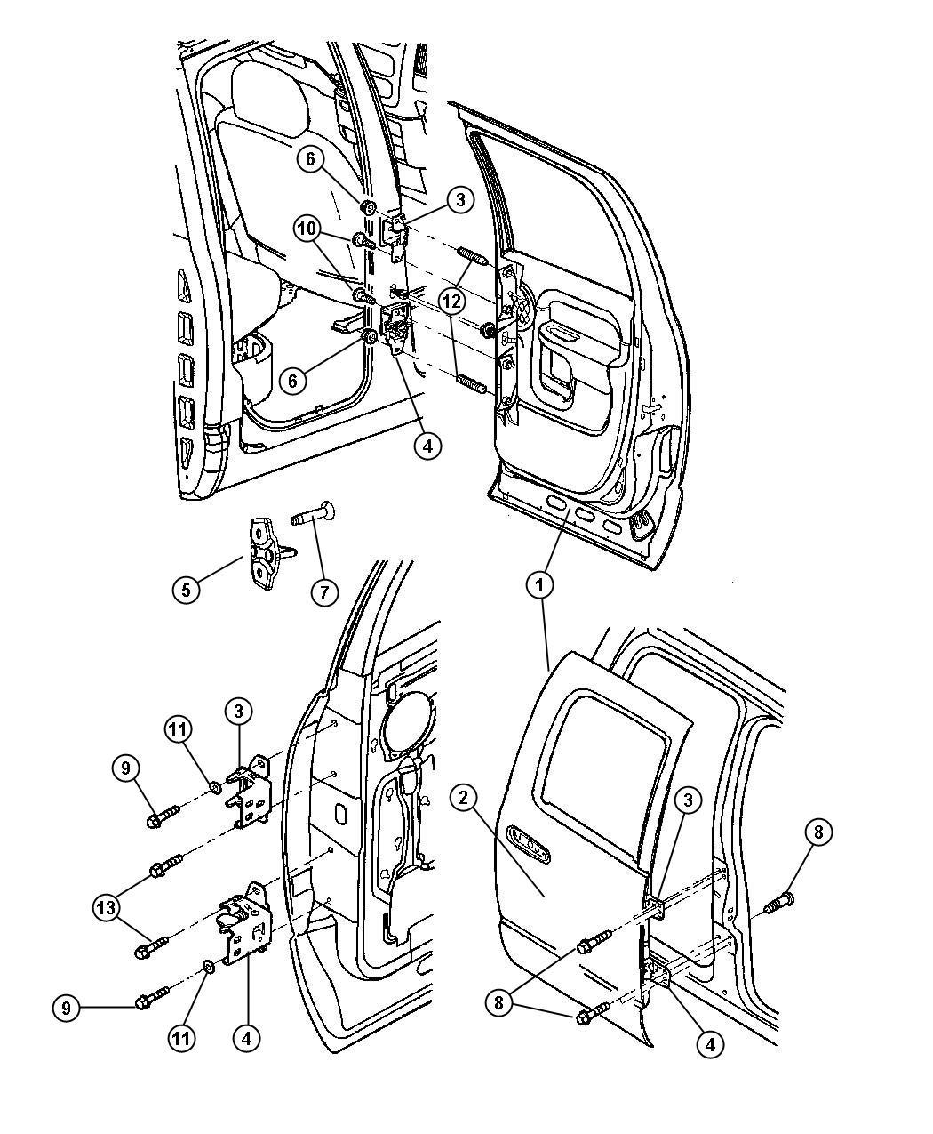 Dodge Ram Door Rear Right