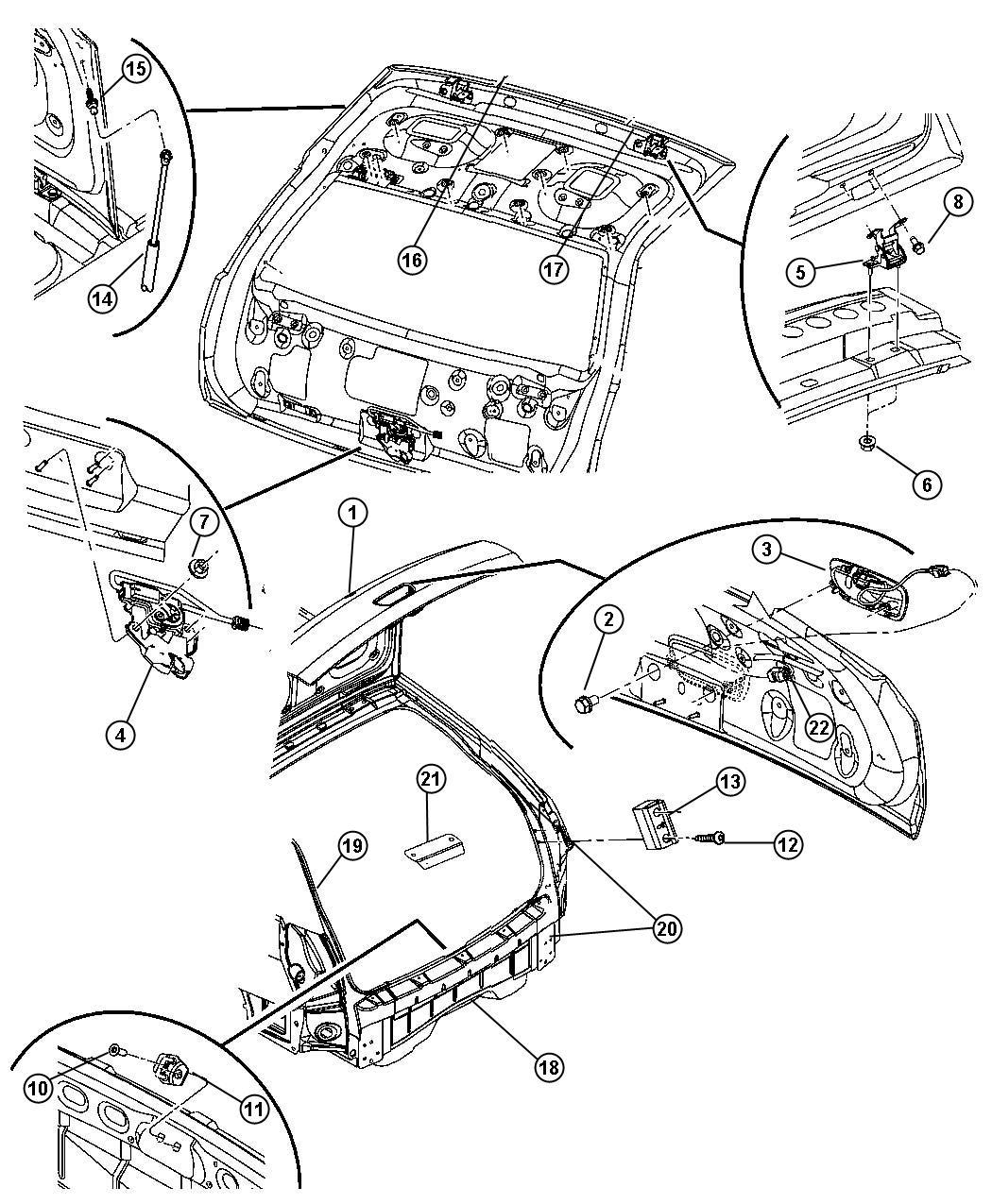 2007 Dodge Magnum Latch. Liftgate. Ahv, liftgates
