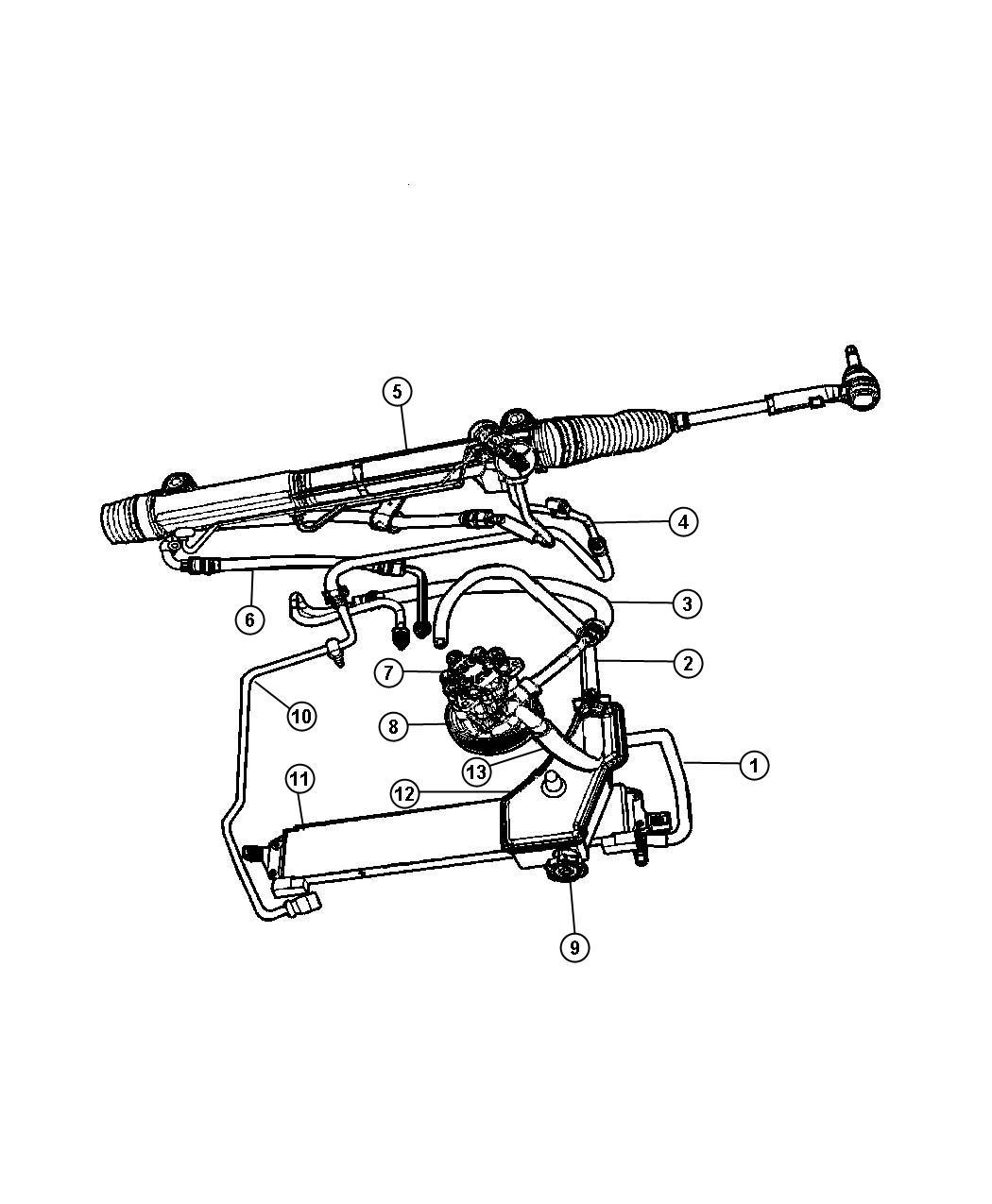 Jeep Grand Cherokee Reservoir Power Steering Fluid