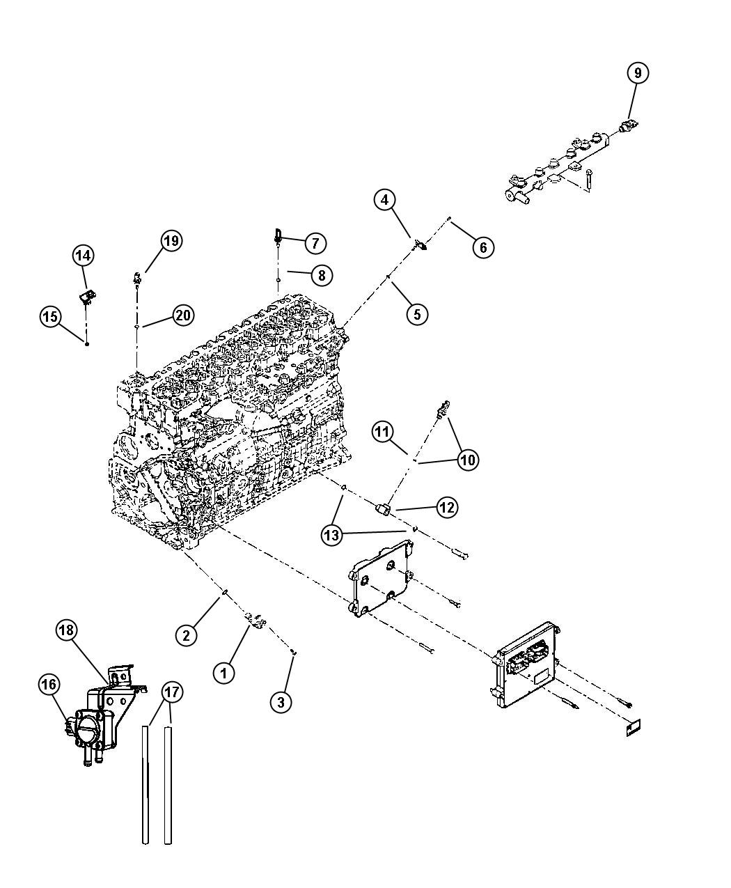 Dodge Ram Bracket Sensor Mounting