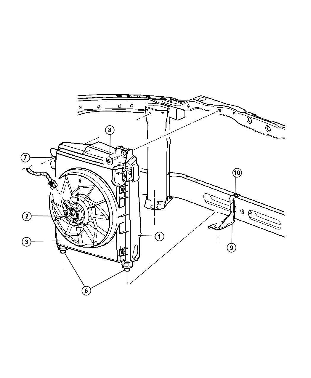 Dodge Ram Condenser A C Air Conditioning