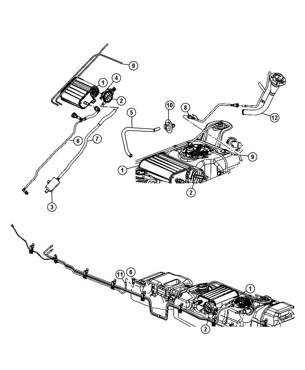 2007 Dodge Ram 1500 Detector. Evaporative system integrity