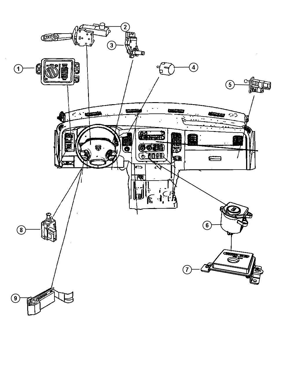 Dodge Switch Ignition Wiperstilt Columnhybrid