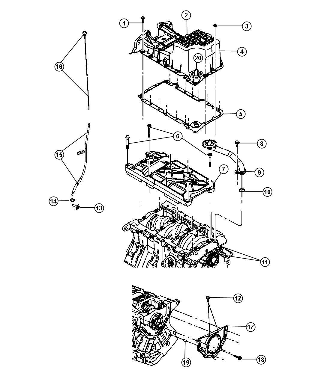Jeep Wrangler Rubicon 3 6l V6 A T 4x4 Gasket Oil Pan