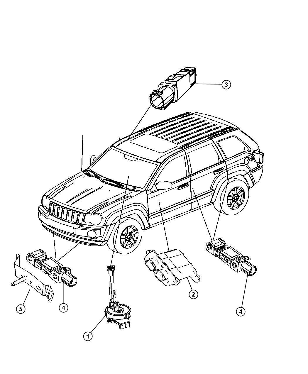 Jeep Grand Cherokee Bracket. Air bag, air bag sensor