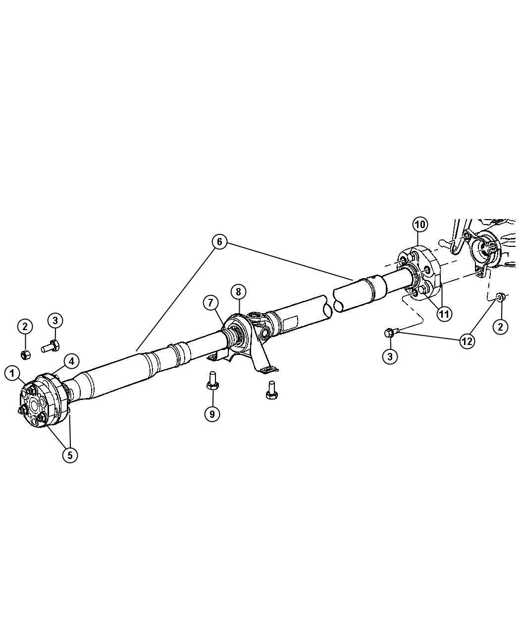 Dodge Charger Boot Driveshaft