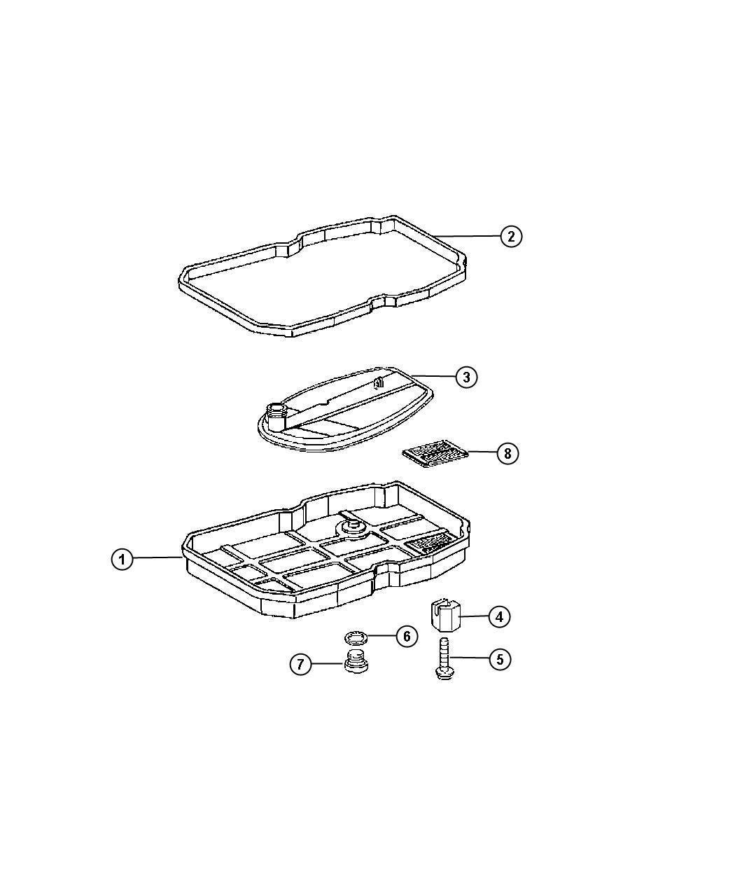 Dodge Sprinter Pan Transmission Oil Pan Kit Includes