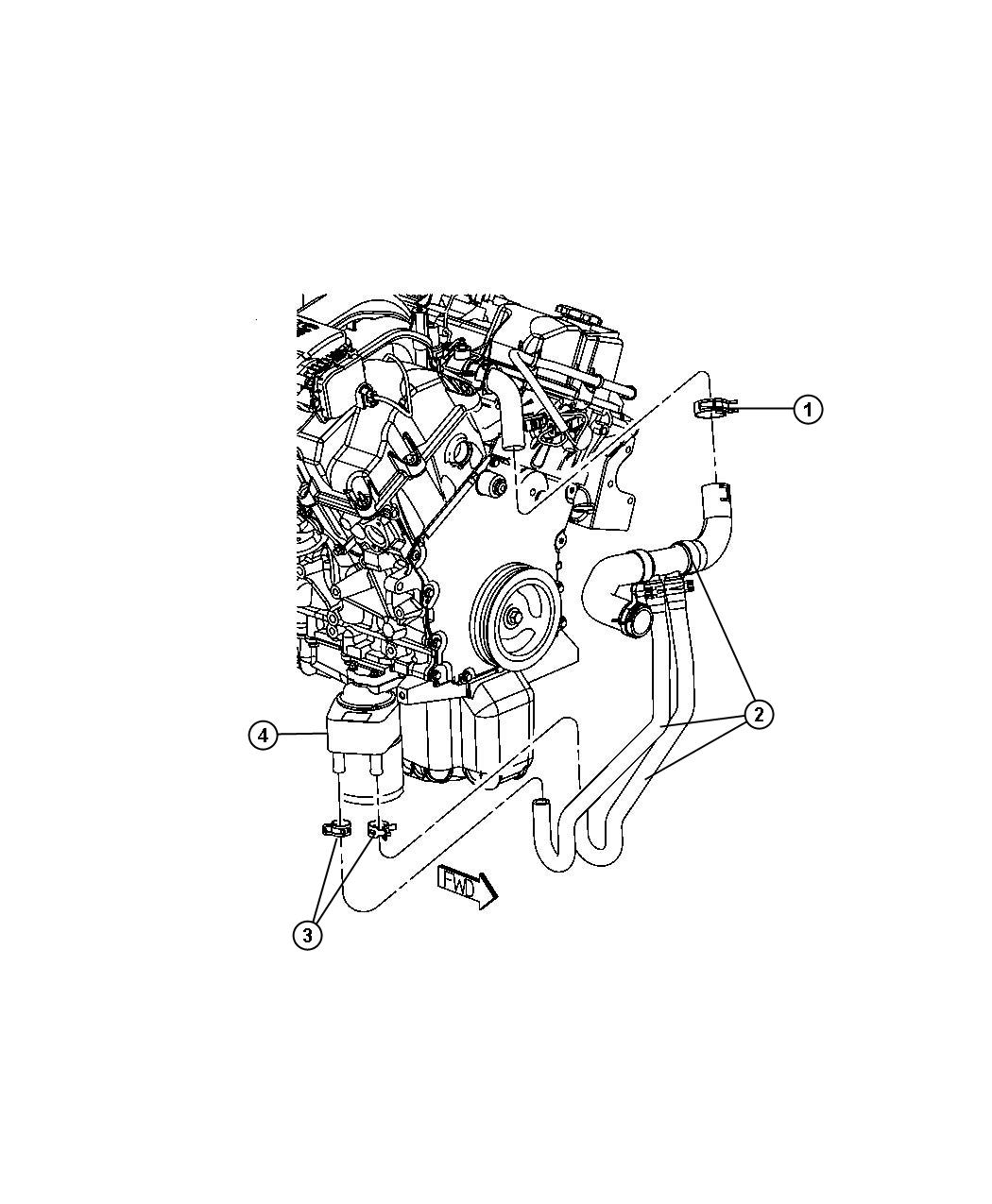 Chrysler 300 Clamp By Pass Hose 38x15 40x15 Radiator