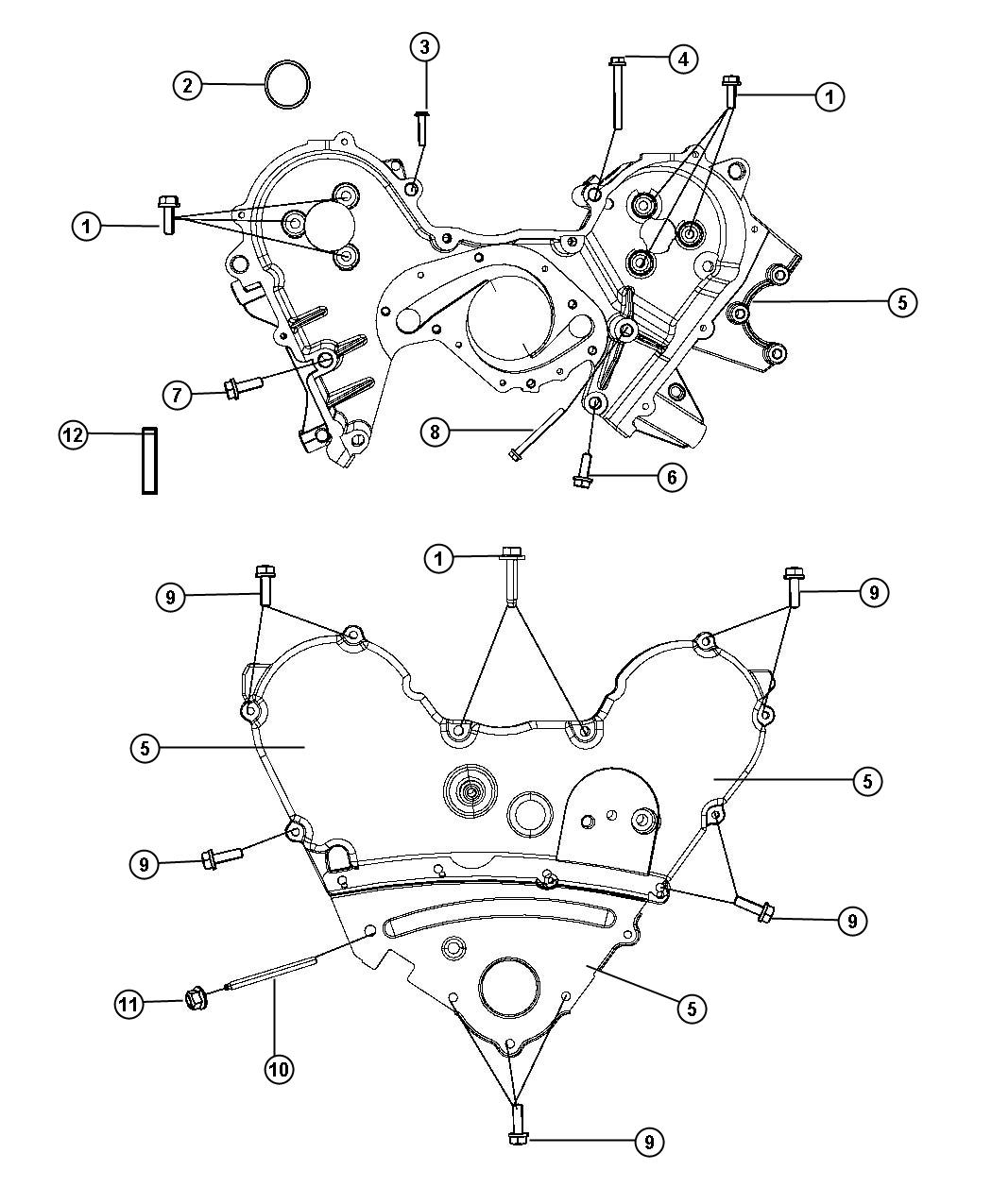 Chrysler 300 Timing Case Cover 3 5l 3 5l High Output