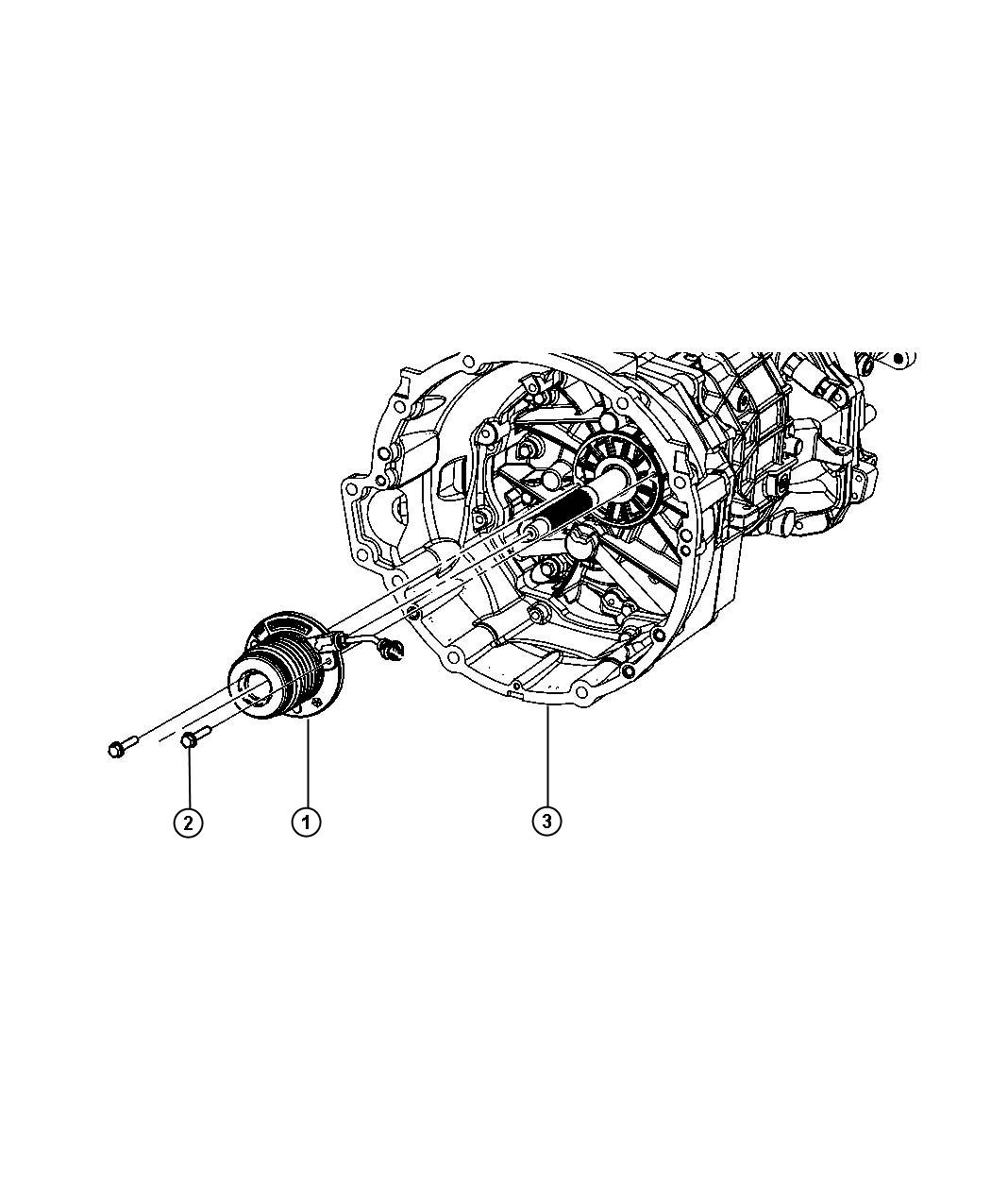 2010 Dodge Actuator assembly. Clutch concentric slave