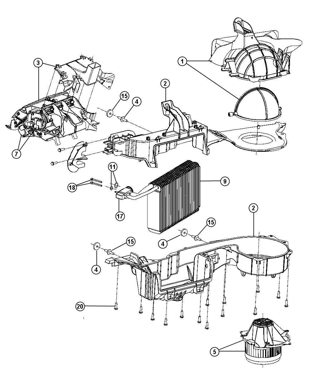 Dodge Resistor Blower Motor