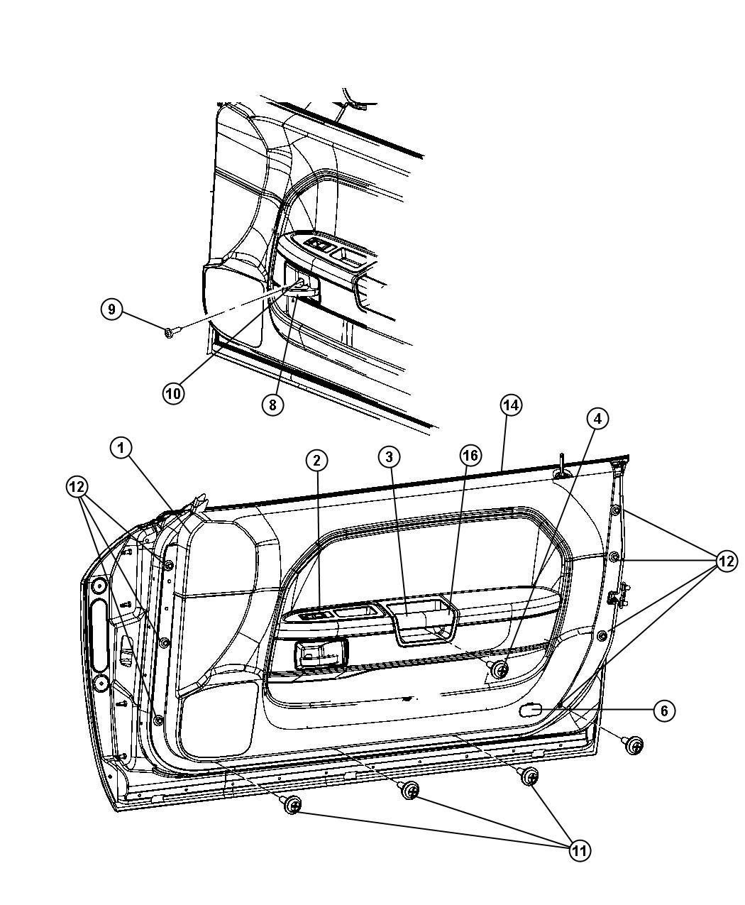2010 Dodge Molding kit. Door belt. [mopar hood scoop