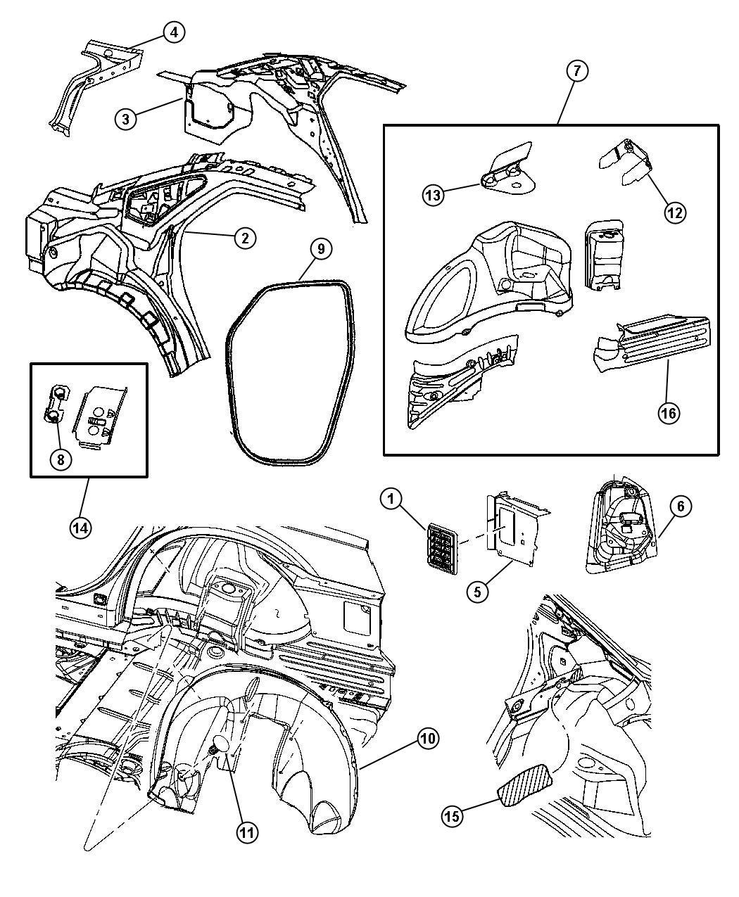 2007 Dodge Pin. Push in. M8 x 1.25 x 20. Fascia attaching