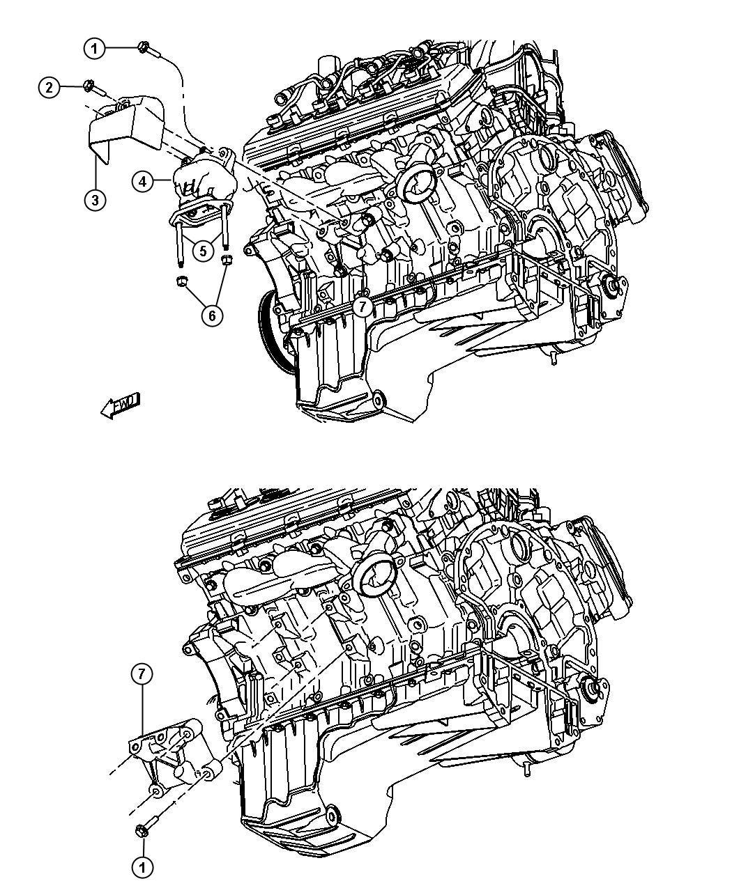 Chrysler 300 Bracket Engine Mount Left Left Side