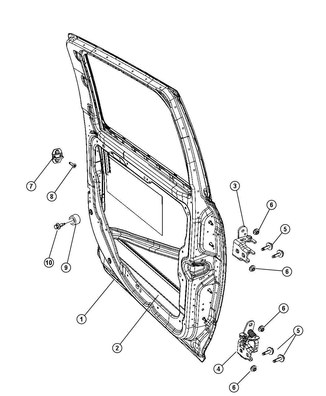 Dodge Ram Panel Rear Door Outer Left