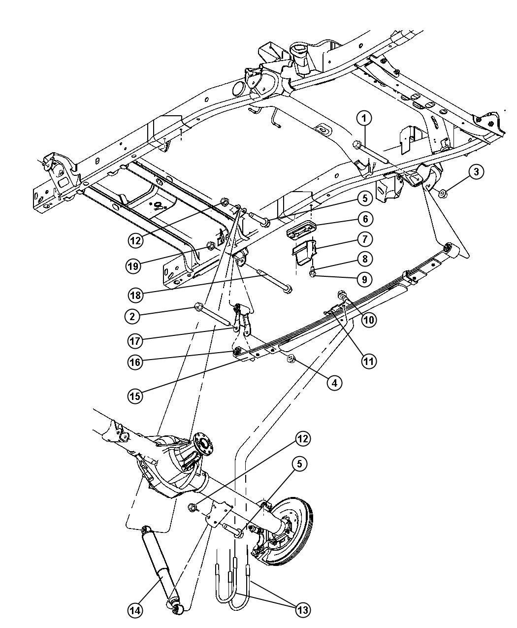 Dodge Ram 2500 Shock absorber. Suspension. Rear
