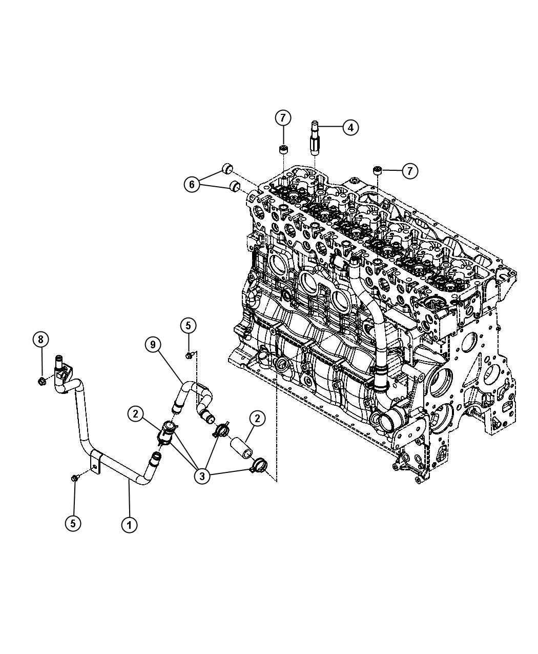 Dodge Ram Tube Heater Core Federal Emissions