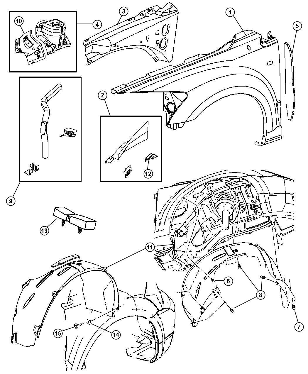 2013 Dodge Charger SE 3.6L V6 Pin, push pin. M8x10.3. Left