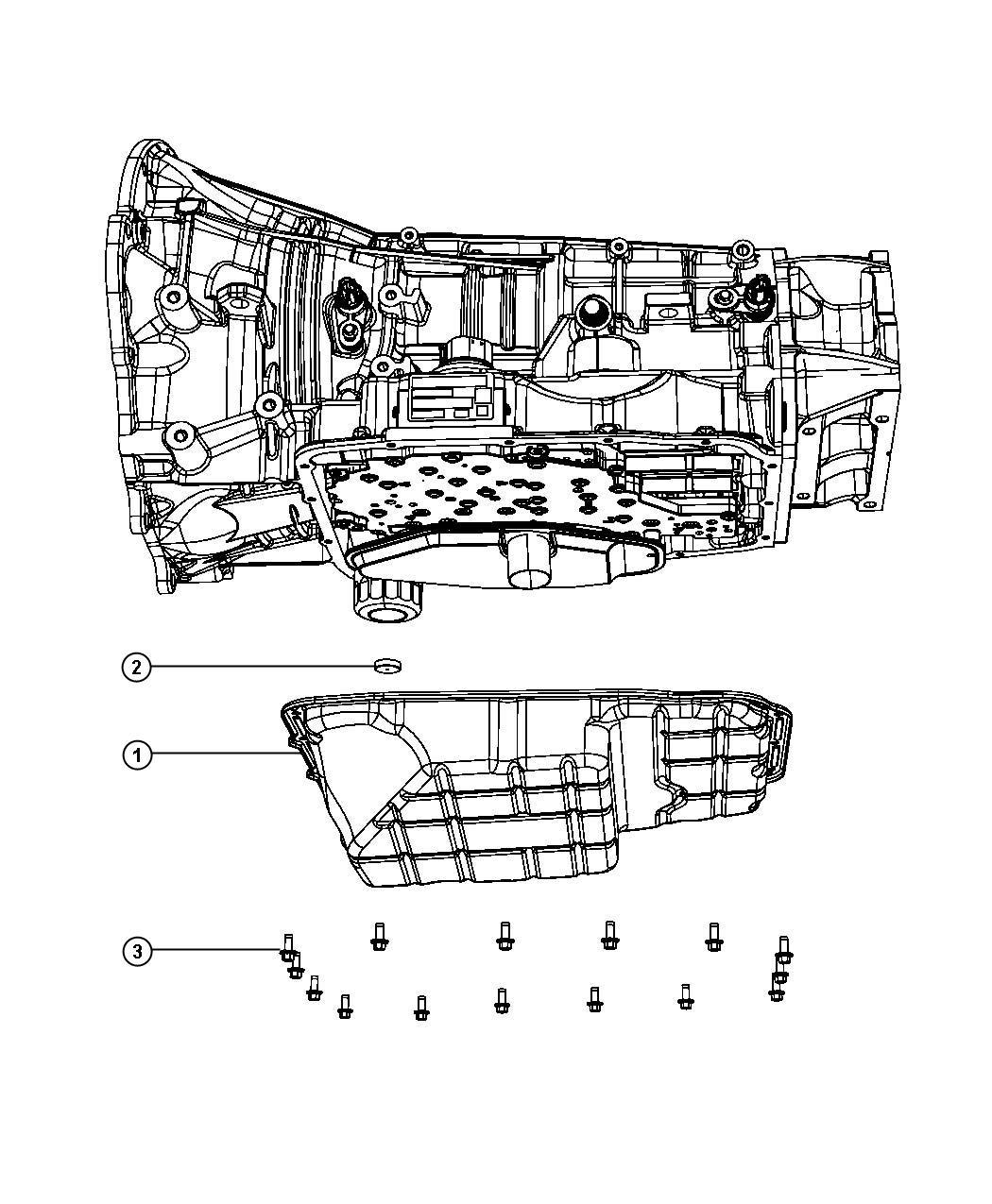 Dodge Ram 2500 Bolt. Hex flange head, hex head. M6x1.00x14
