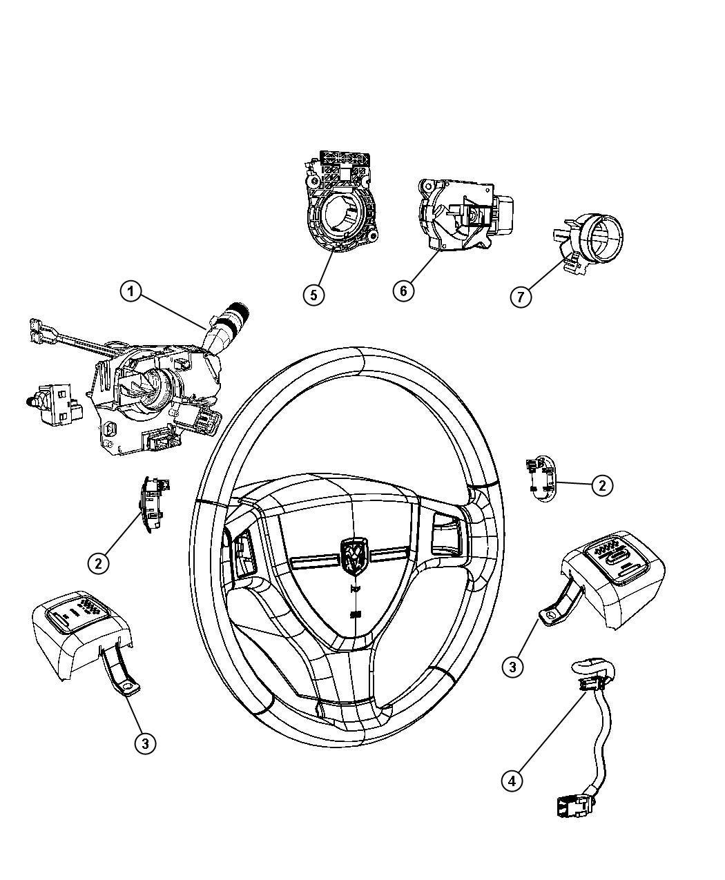 Chrysler Town & Country Wiring. Radio adapter, steering