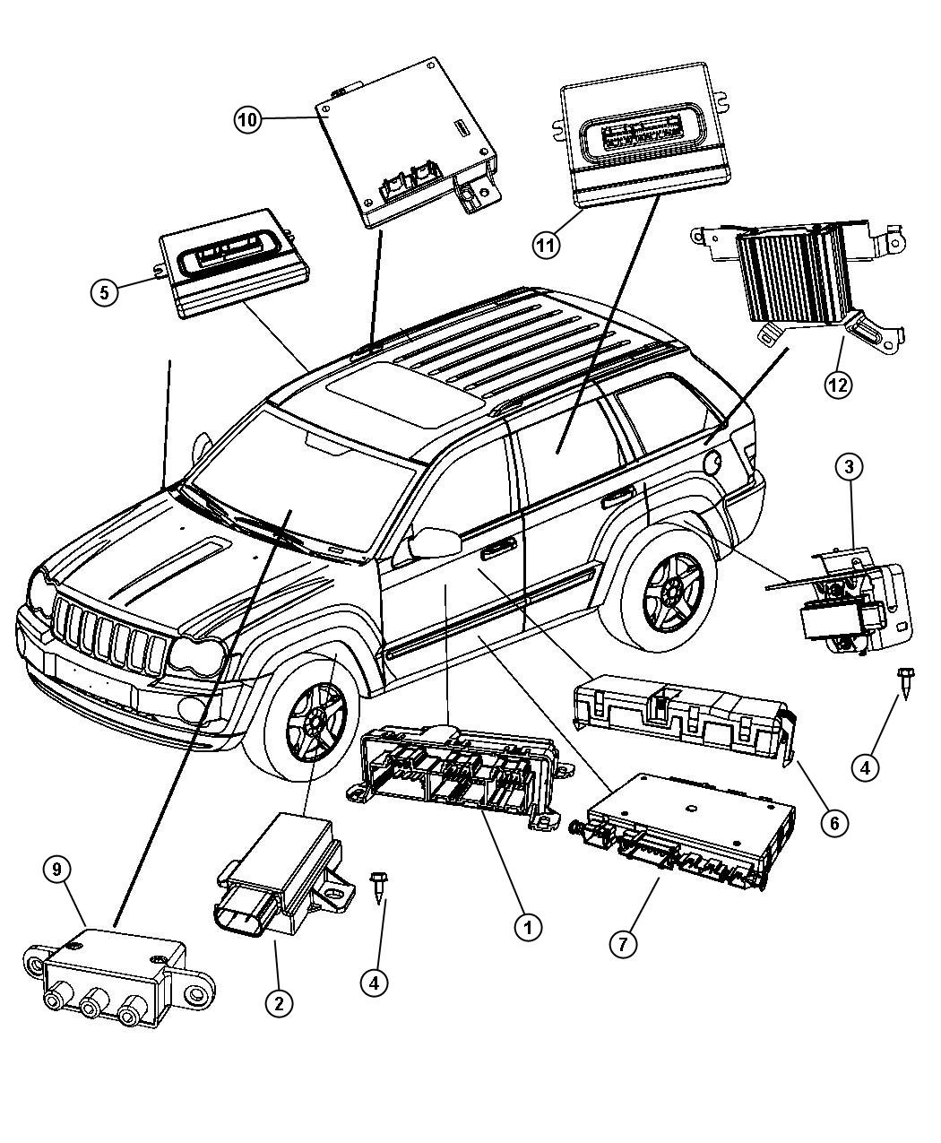 Jeep Commander Module. Power inverter. With bracket