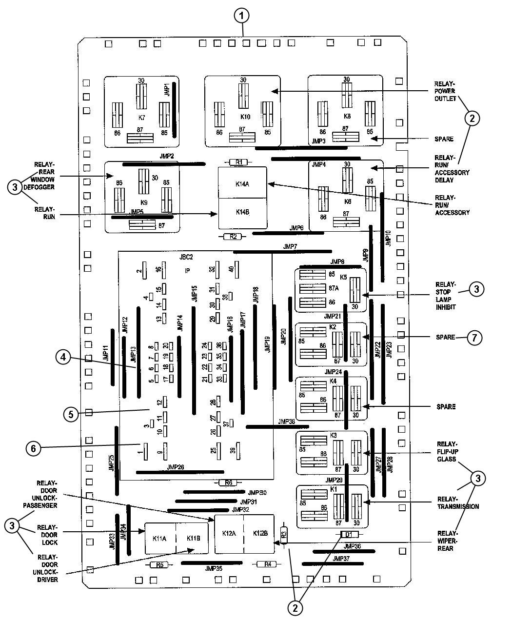 Jeep Commander Junction Block Fuses, Relays, and Circuit