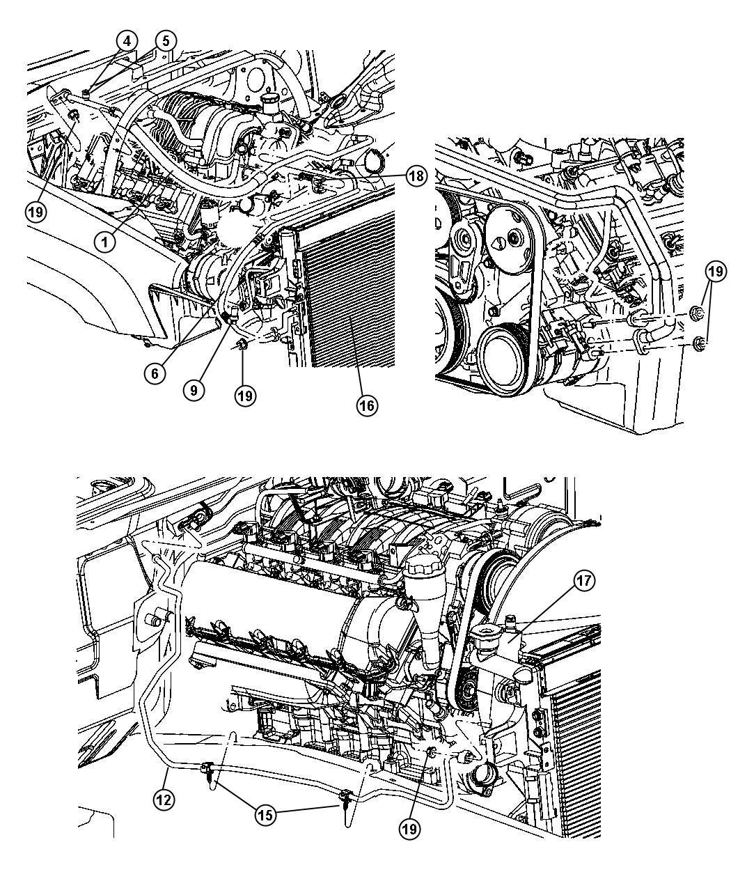 Dodge Grand Caravan Sxt 3 8l V6 Pin Push Mounting