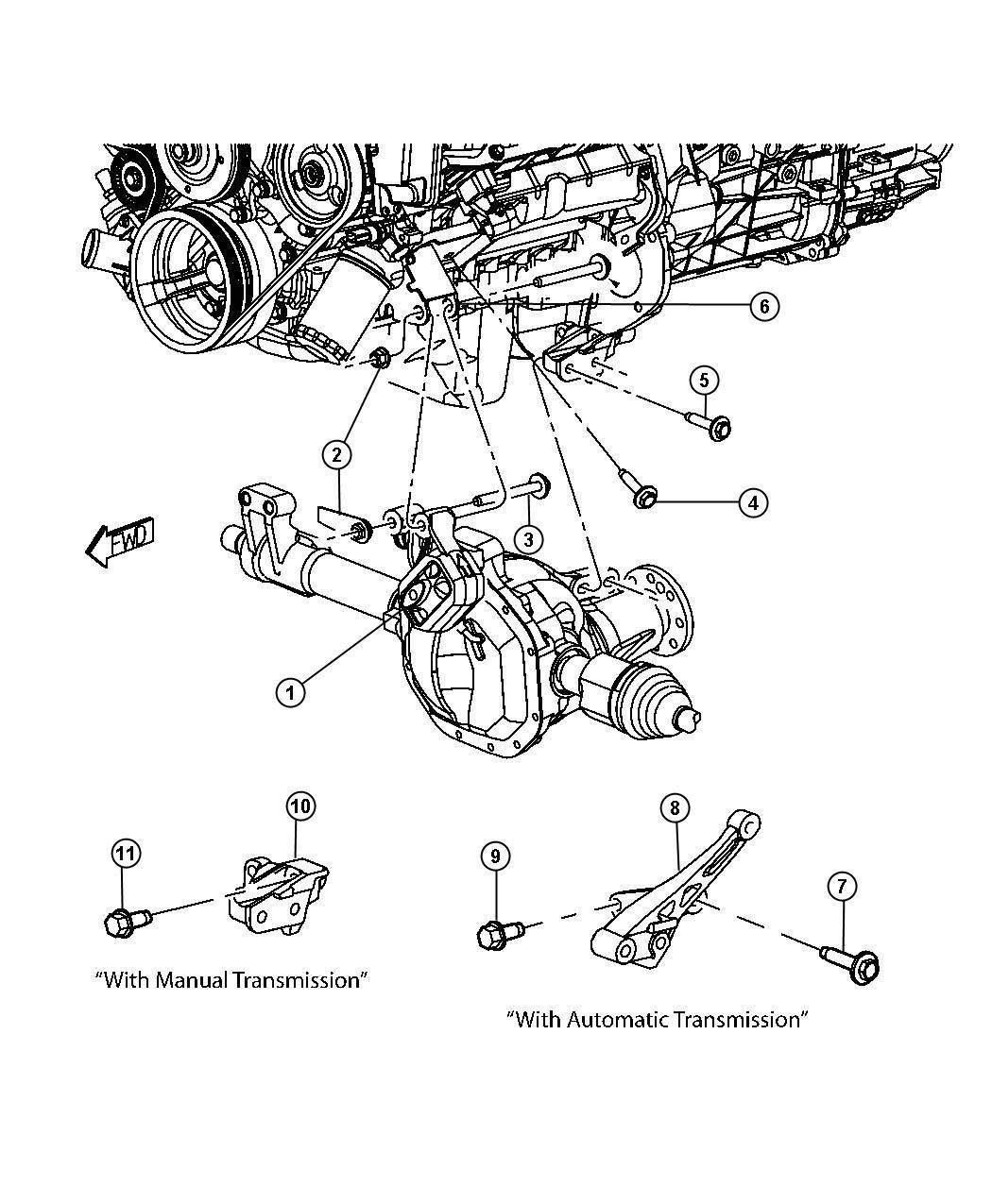 Dakota Engine Mounting Left Side 4wd 4 7l 4 7l V8 Ffv