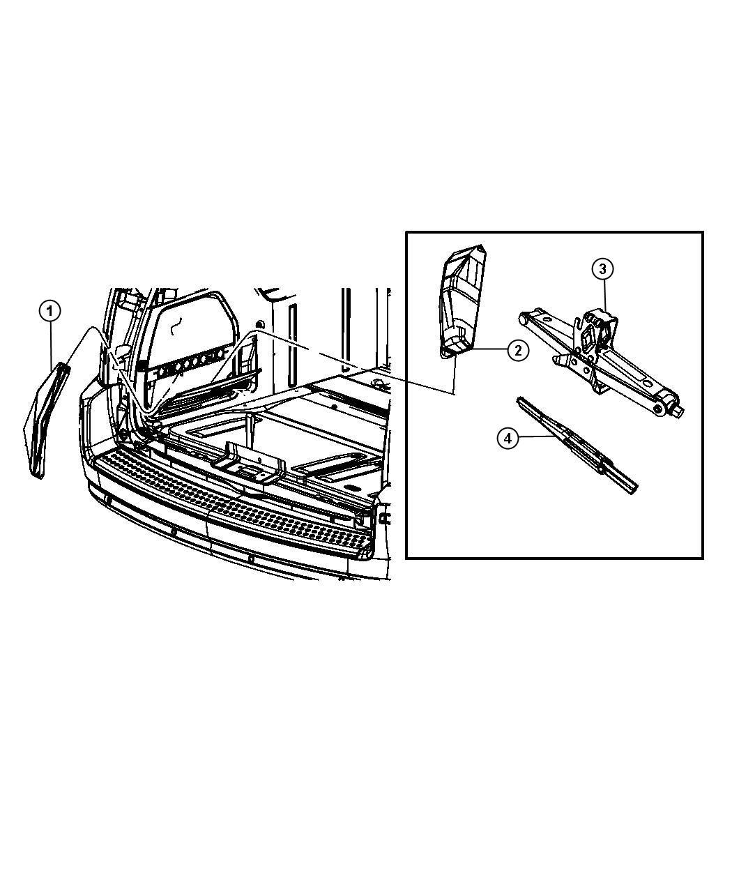 2008 Dodge Grand Caravan Jack. Scissors. [tbt] or [compact