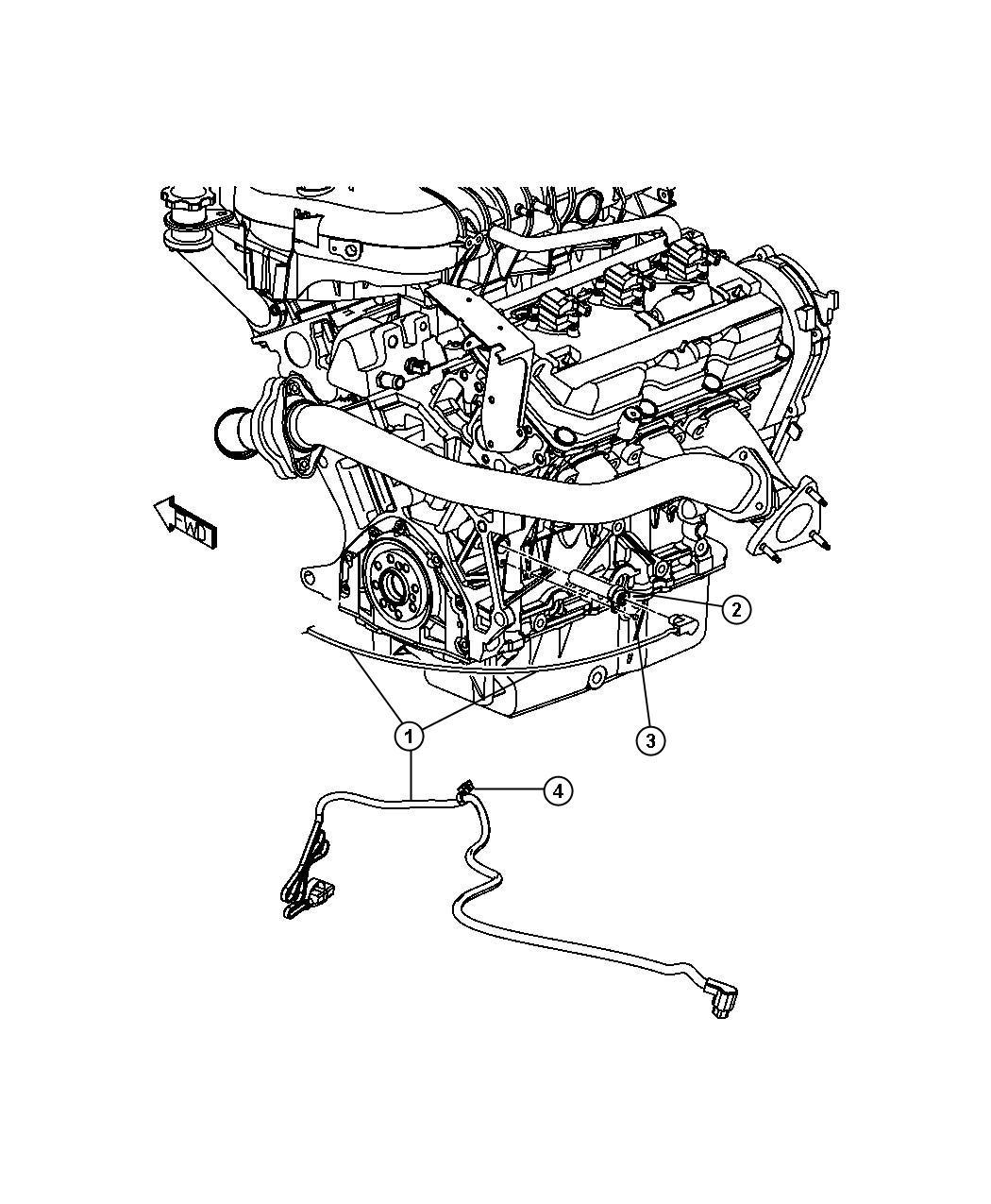Dodge Grand Caravan Cord. Engine block heater. 3.5l