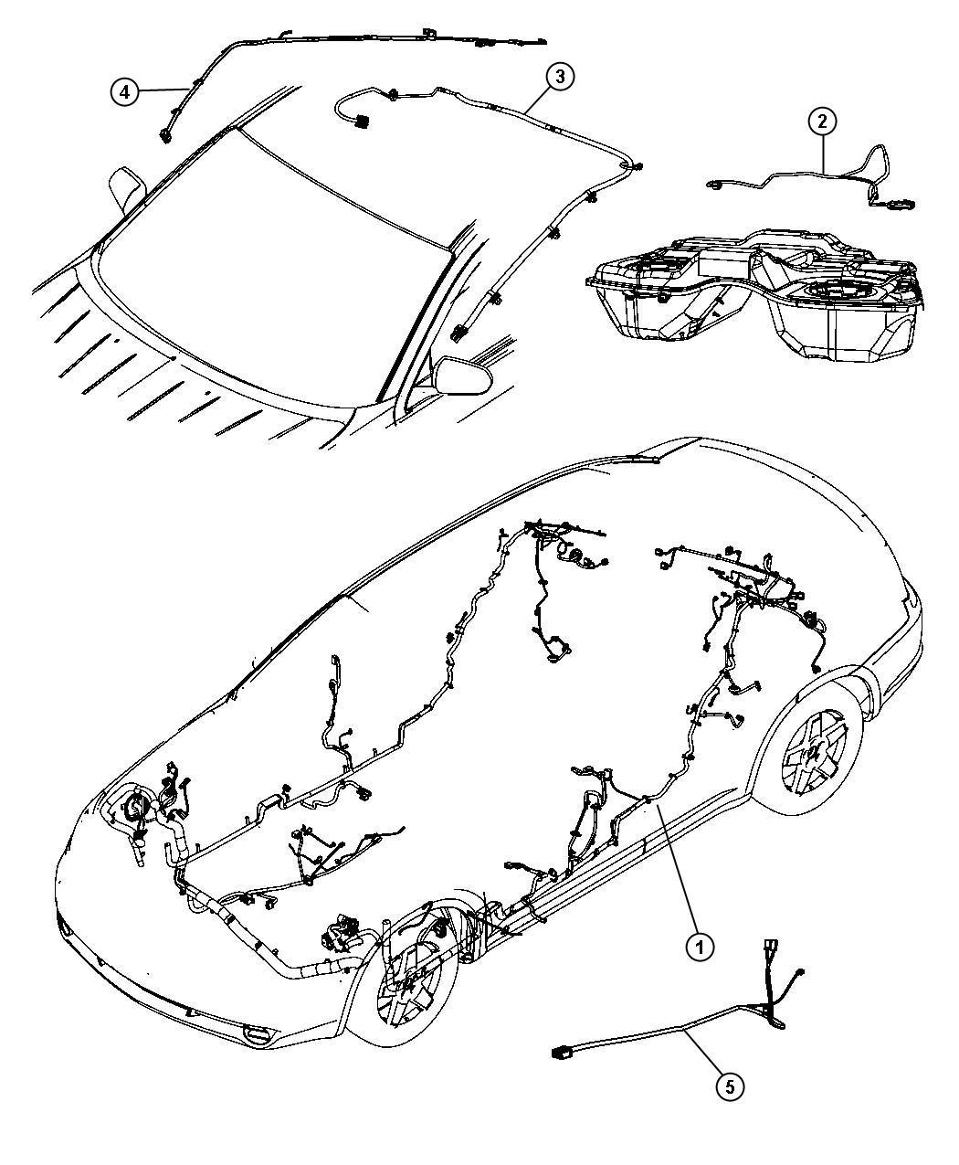 Chrysler Sebring Wiring Mirror Jumper Rr View Auto Dim