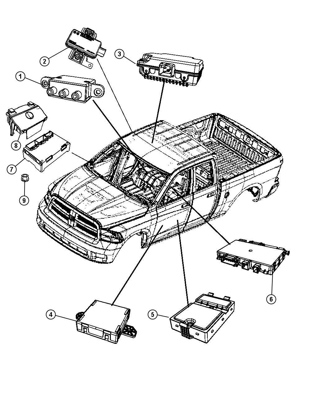 2010 Dodge Ram 1500 Module. Tire pressure monitoring