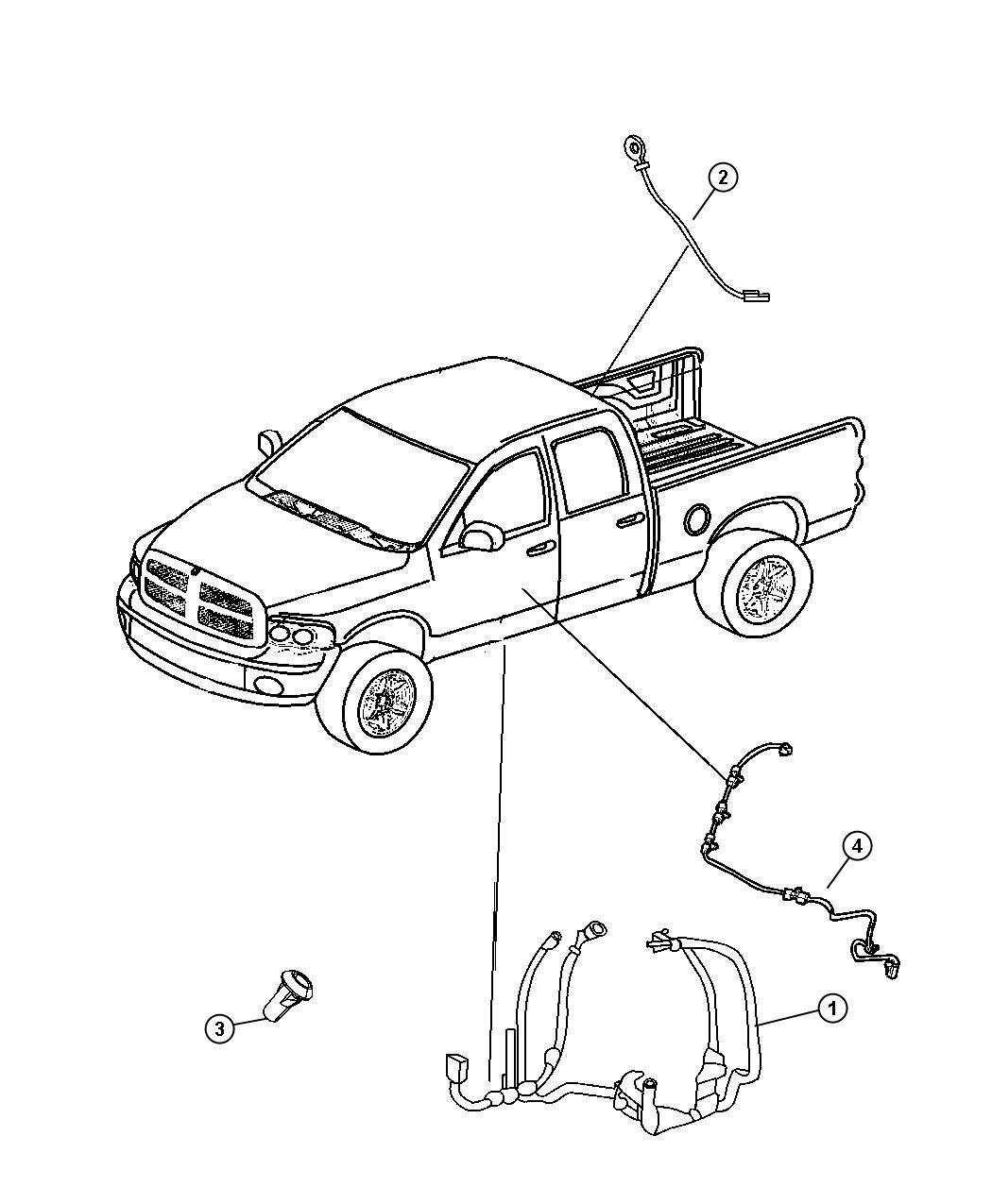 Dodge Ram Wiring Body Heated Second Row Seats