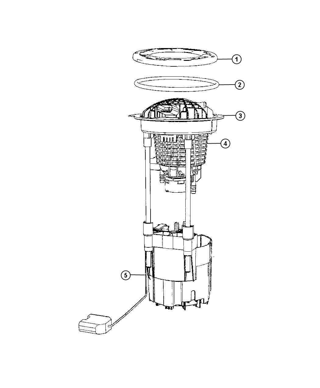 Dodge Ram Module Kit Fuel Pump Level Unit Contain