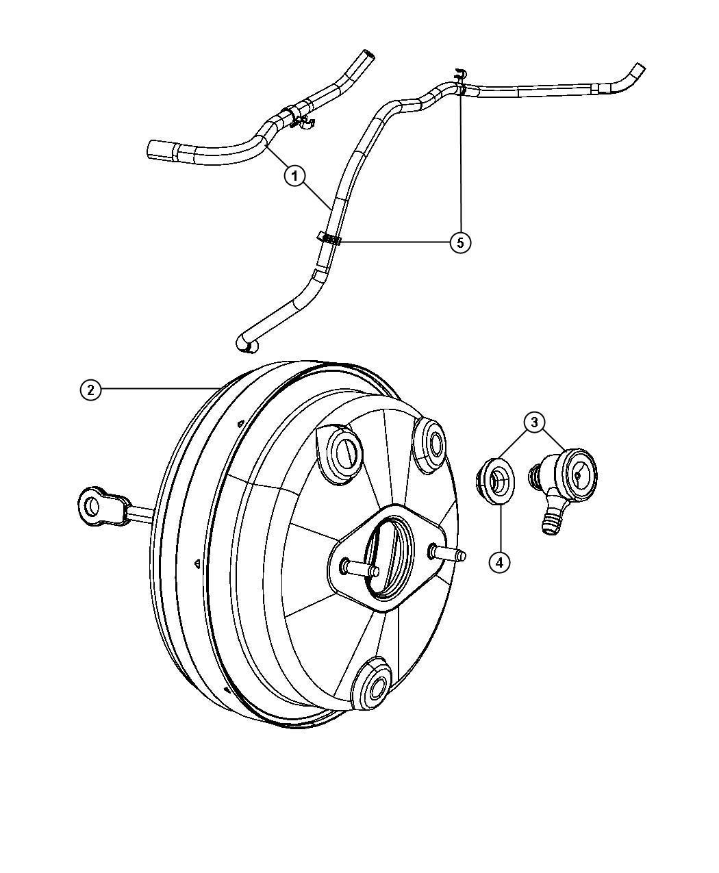 Chrysler Sebring Hose. Vacuum supply. [2.7l v6 dohc 24