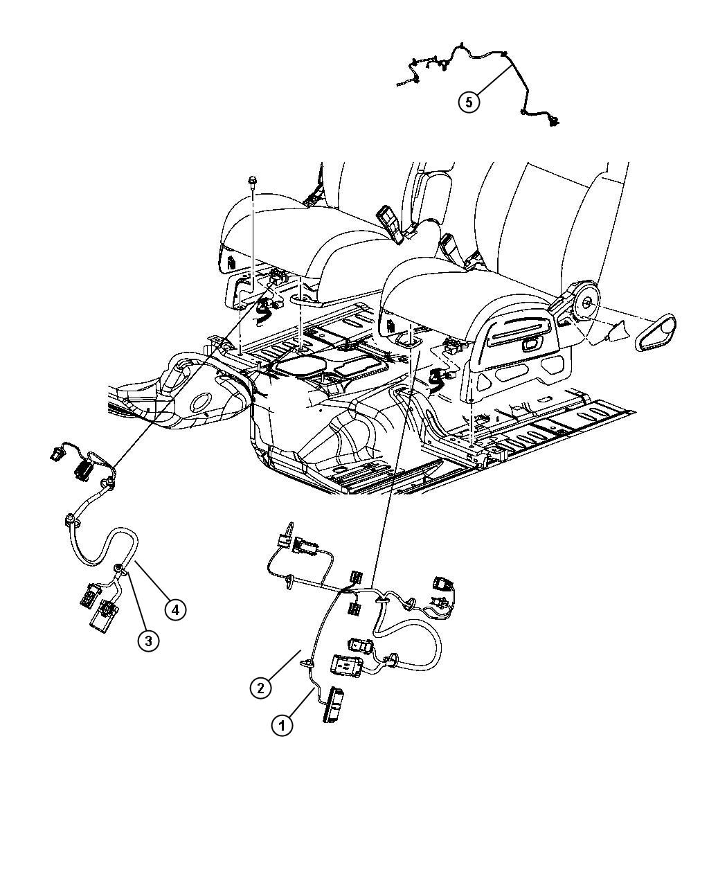 Jeep Liberty Wiring. Power seat. 2 way, heated. Trim