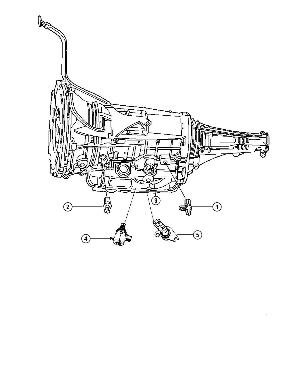 2010 Jeep Wrangler Sensor, solenoid. Trans variable force