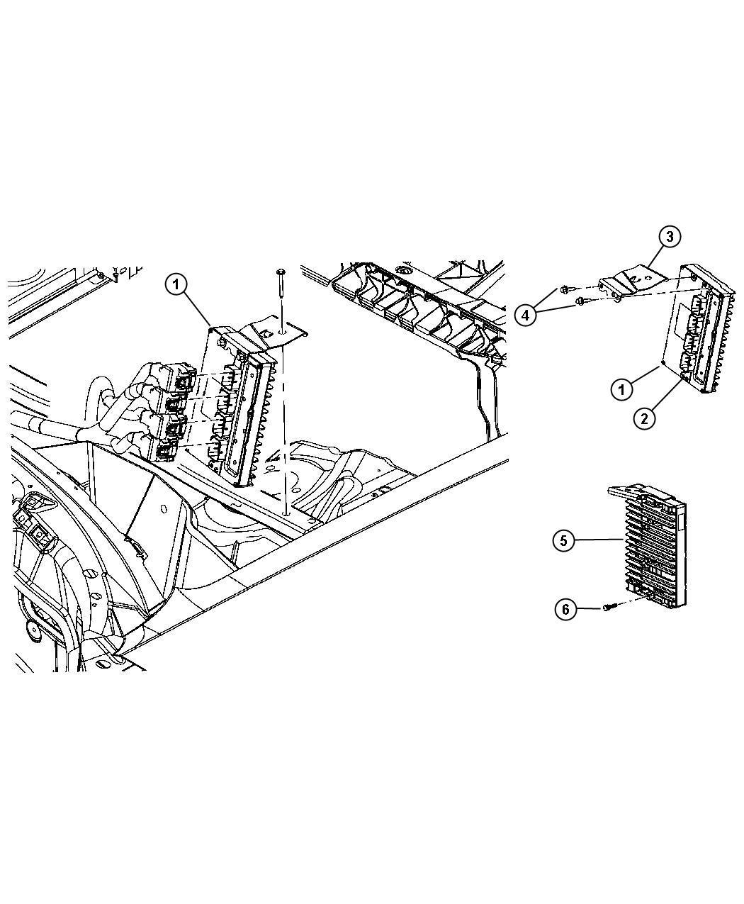 Dodge Challenger Module. Powertrain control. Generic