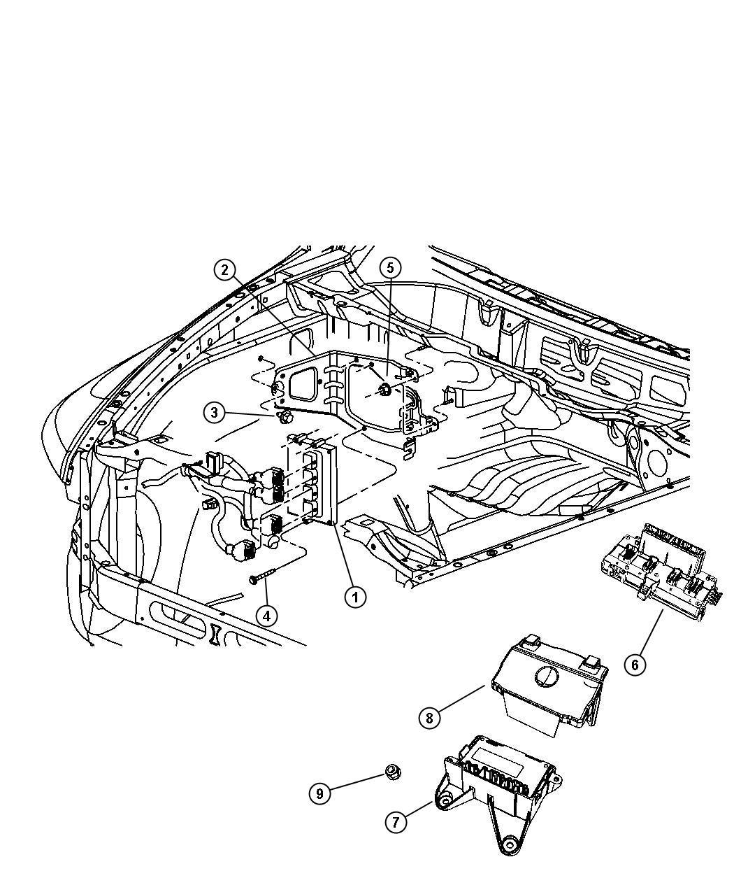 Dodge Ram 2500 Module. Powertrain control. Generic