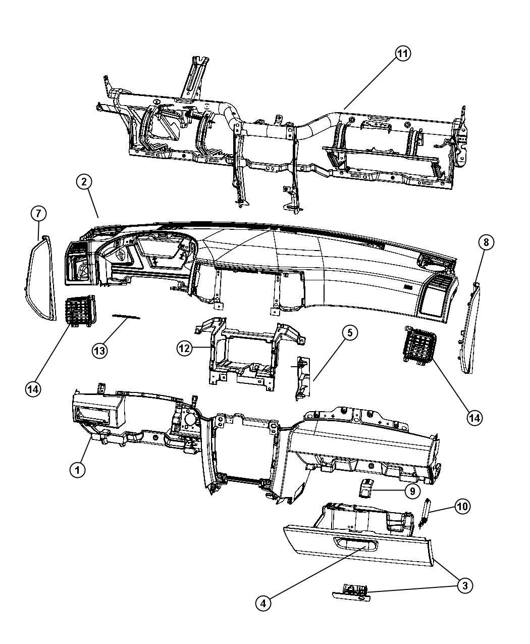 Jeep Grand Cherokee Bracket. Radio. Trim: [all trim codes