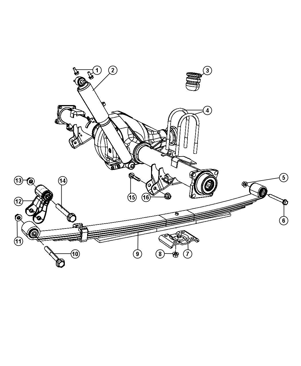 Dodge Ram 1500 Bolt, screw. Hex flange head, suspension