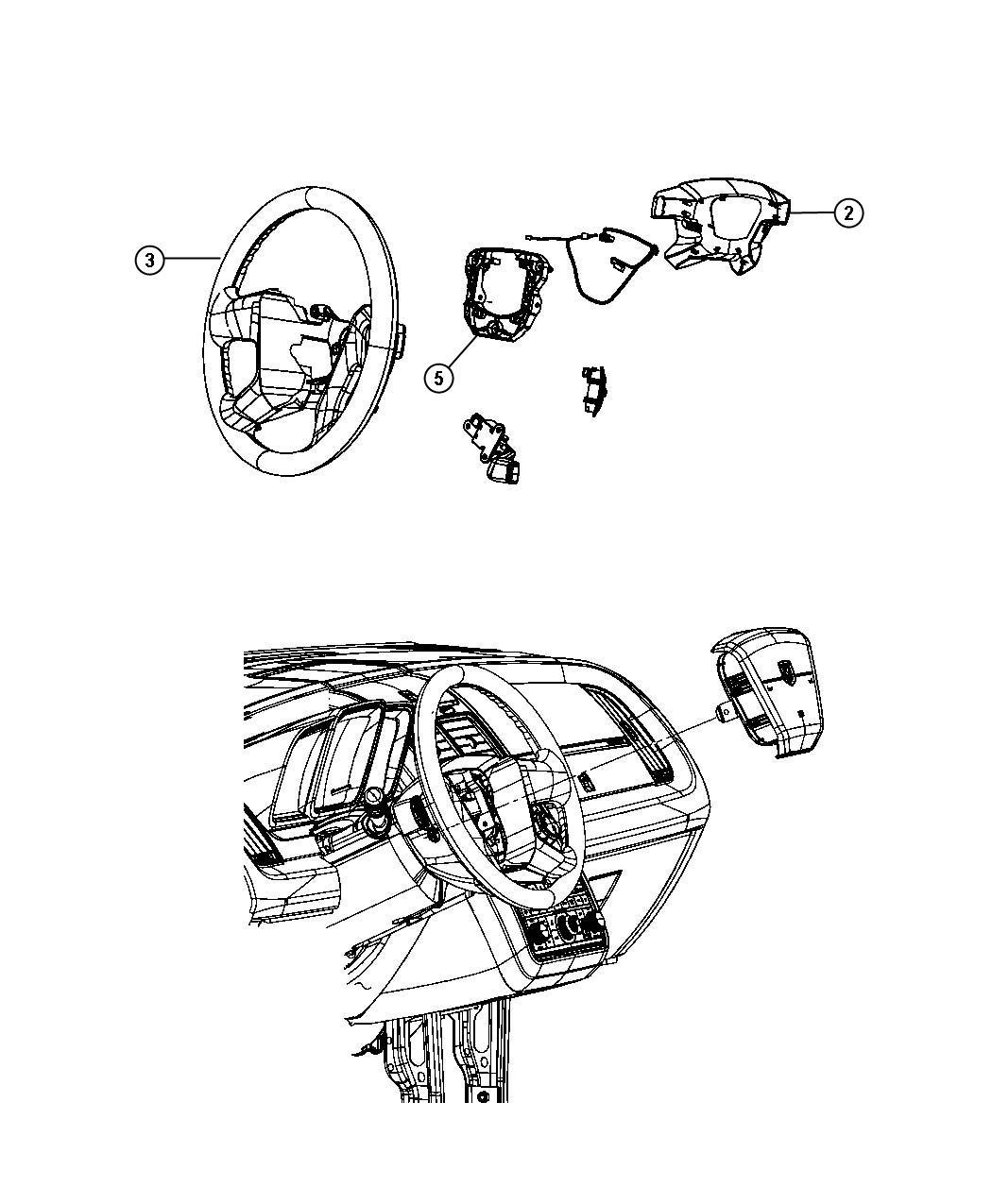 Dodge Journey Cover. Steering wheel back. [ka][steering