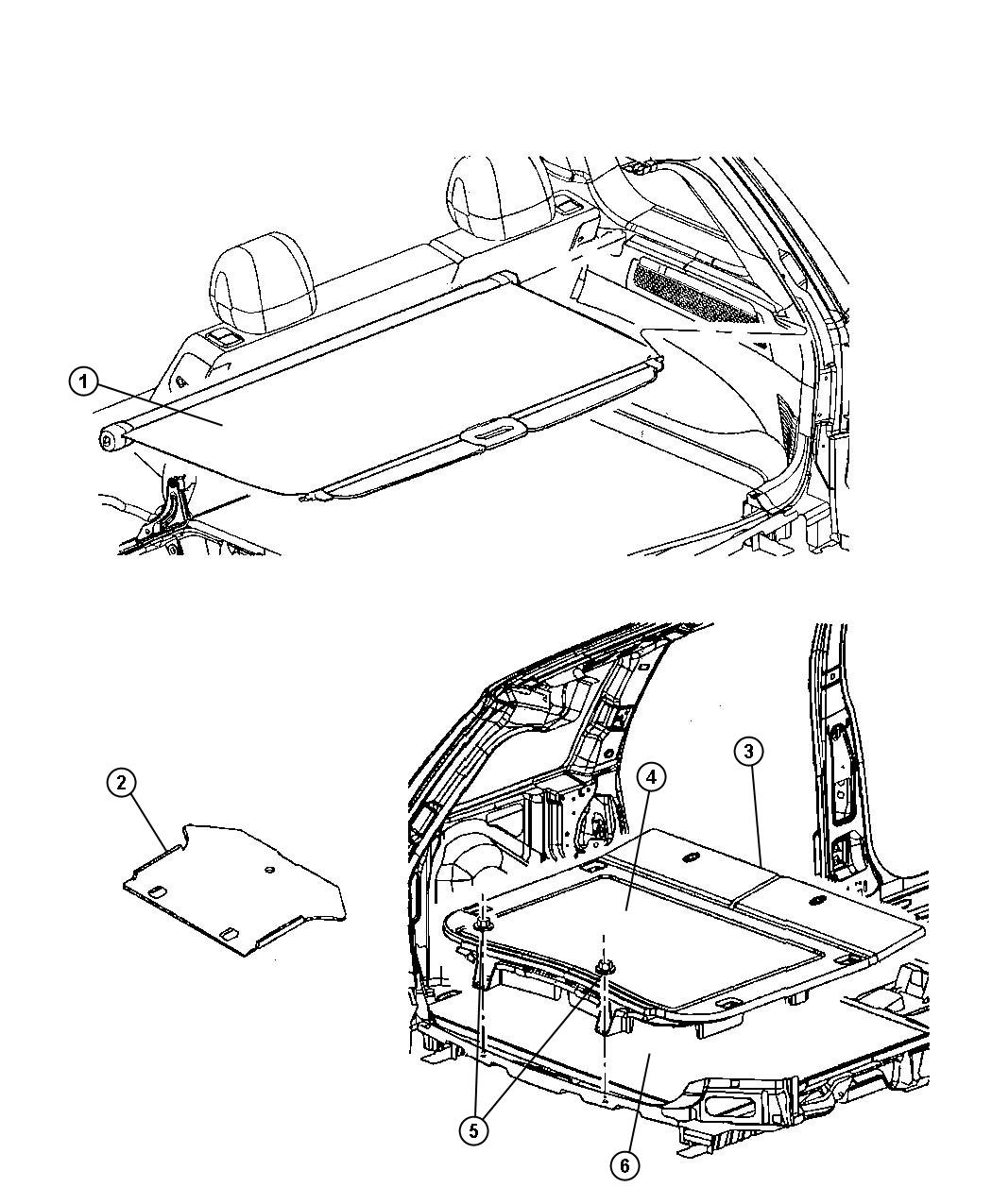 Jeep Grand Cherokee Bumper Load Floor Trim All Trim